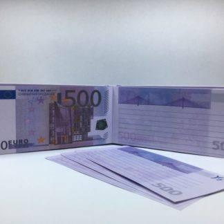 Отрывной блокнот-визитка 500€