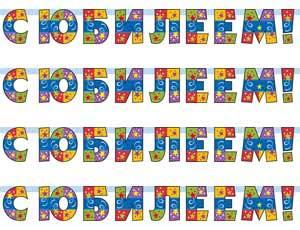 Гирлянды-буквы С ЮБИЛЕЕМ Серпантин 150см