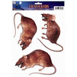 Стиккер на окно крыса