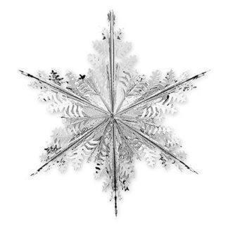 Снежинка фольгированная, 60см