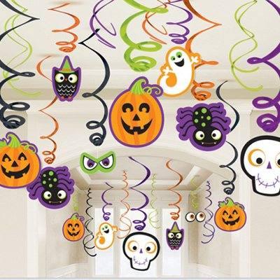 Спирали Забавный Хэллоуин, 30 штук