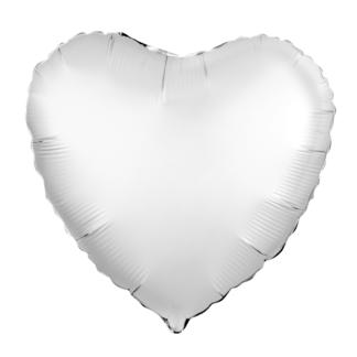 Шарик из фольги сердце Жемчужный Сатин 46см