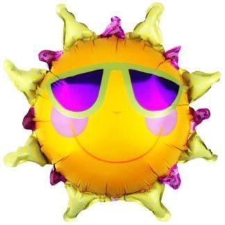 Шар-мини Солнце в очках, 36см