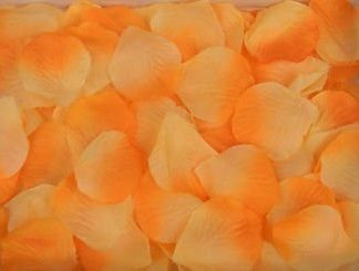 Лепестки роз, оранжевый, 300шт