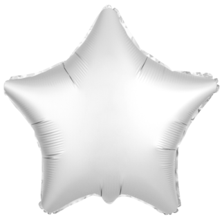 Шарик из фольги звезда Жемчужный Сатин