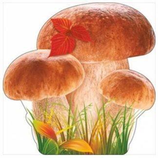 """Украшение на скотче """"Белые грибы"""", 15см, 10шт."""