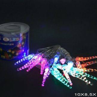 """Гирлянда светодиодная """"Сосульки"""", 4м, 40 диодов, цвет разноцветный"""