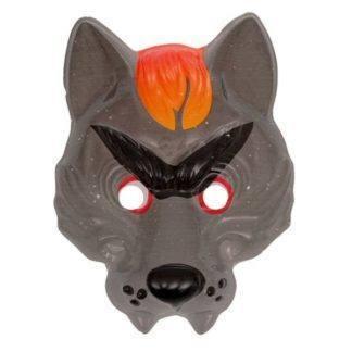 Маска пластиковая Серый волк 18х23см