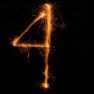 Бенгальская Свеча цифра 4