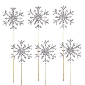 Шпажки для канапе Снежинки, 6шт