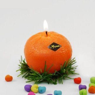 """Новогодняя свеча """"Мандарин"""", 6см"""