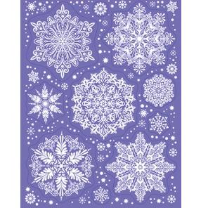 """Наклейки """"Зимние украшения на окна - Снежинки, №3"""""""