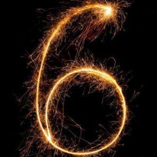 Бенгальская Свеча цифра 6
