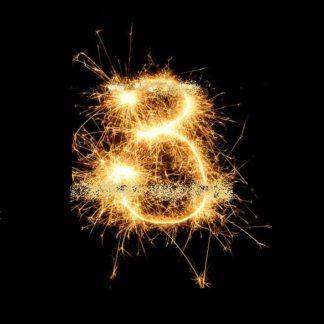 Бенгальская Свеча цифра 3