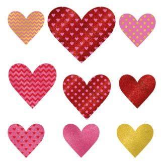 Баннер-комплект Сердце блеск, 9 штук