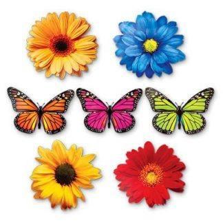 Баннер-комплект Бабочки Цветы, 12 шт.