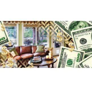 Конверт для денег, Диван у окна (доллары)