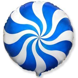 Шар из фольги, Круг, Синий леденец, 46см