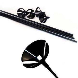 Комплект Палочка+Розетка черные 100шт