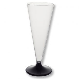 Конус для шампанского с черной ножкой 150мл, 1шт.