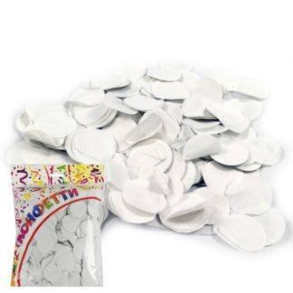Конфетти бумажное Круги белые 3см 100гр