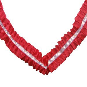 Лента Волна красная шелк 3м
