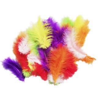 Перья разноцветные 30шт