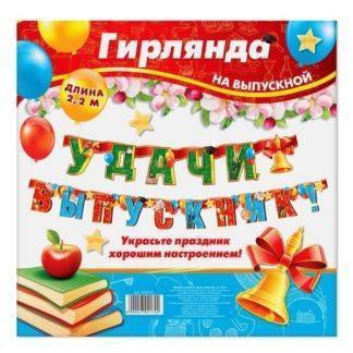 "Гирлянда на люверсах «Удачи, выпускник!"", 220 см"