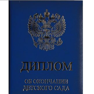 Диплом об окончании детского сада ПОРОЛОН 2-х створчатый синий 13*18 см