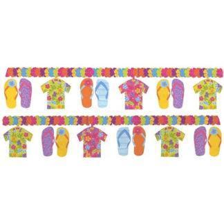 Бумажная гирлянда с подвесками Гавайи, 220см