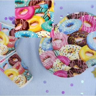 Набор праздничной посуды Пончики