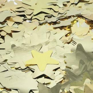 Конфетти фольга, Звезды, Золото, 50гр