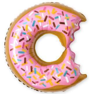 Фольгированный шар Пончик (надкусанный), 66см