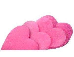 """Бумажное конфетти """"Сердечки"""", 60гр. 5см розовые"""