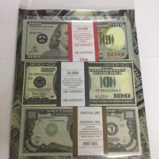Набор Сувенирные деньги Доллары (100 новых, 100 старых, 1000 долларов)