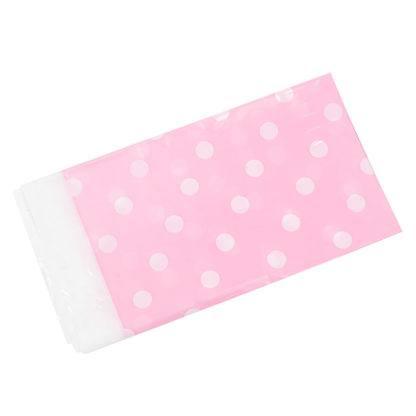 Скатерть Белые точки, Розовая, 180 х 108 см
