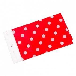 Скатерть Белые точки, Красная, 180 х 108 см
