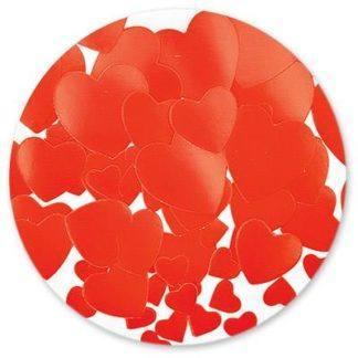 Конфетти бумага Сердца красные 56гр