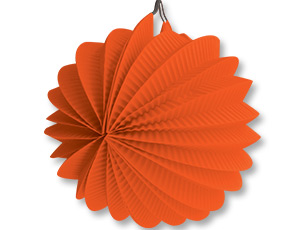 Фонарик бум круглый оранжевый 25см