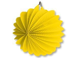 Фонарик бумажный круглый желтый 25см
