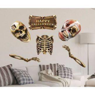 """Набор для оформления Хеллоуина """"Скелеты"""" 6 элементов"""