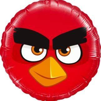 Шарик из фольги, Круг, Angry Birds красный, 46см