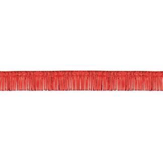 Юбка д/стола фольгированная Красная 360см