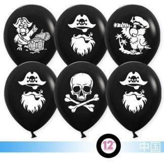 Набор шаров Пираты, 10шт, 30см