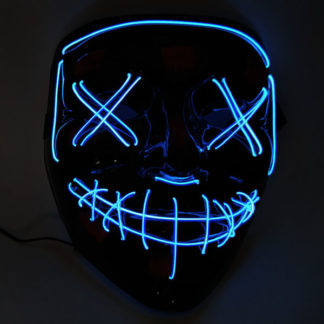 Карнавальная маска c подсветкой BLUE