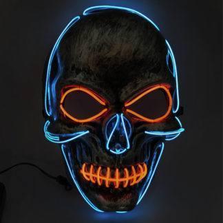 Карнавальная маска c подсветкой Череп Blue/Red