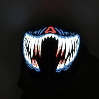Карнавальная полумаска c подсветкой Челюсть