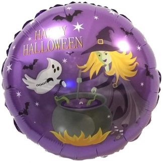 Фольгированный шар, круг, Колдовской Хэллоуин, 46см