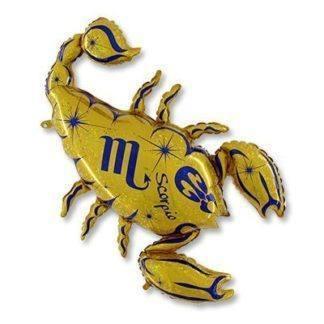 Шар фольгированный Гороскоп Зодиак Скорпион, 127см