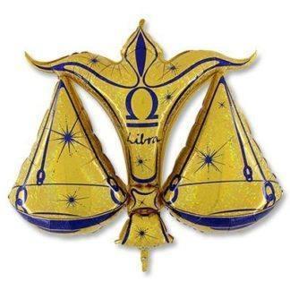 Шар фольгированный Гороскоп Зодиак Весы золотой